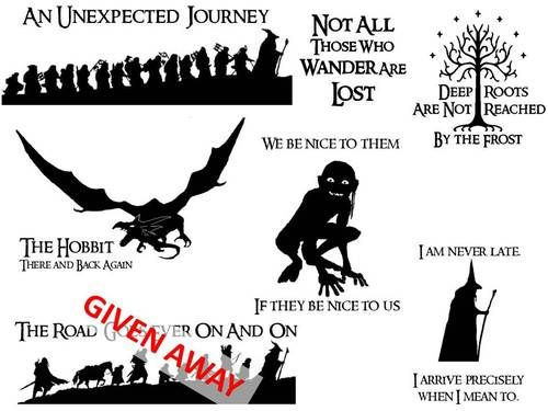 the hobbit art decals - Google Search