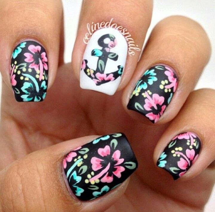 Floral nail art designs for spring season 2015 nails pinterest floral nail art designs for spring season 2015 prinsesfo Images