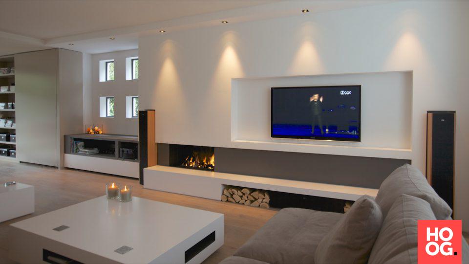 Woonkamer inspiratie met modern interieur fireplace finals