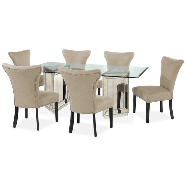 "Sophia Dining Room Furniture 7 Piece Set 76"" Table And 6 Side Simple Dining Room Chairs Online Inspiration Design"