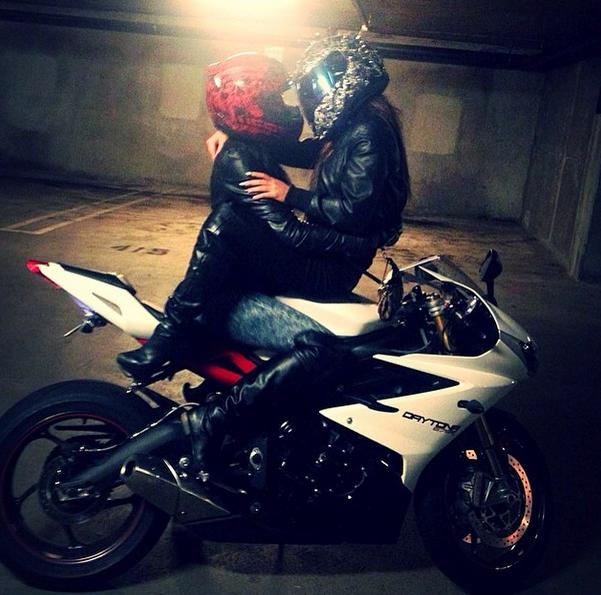 Crystal Helmet And Girl Sportbike Riders. Motorcycle ...