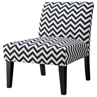 Avington Armless Slipper Chair   Black Chevron Sale Price $101.98