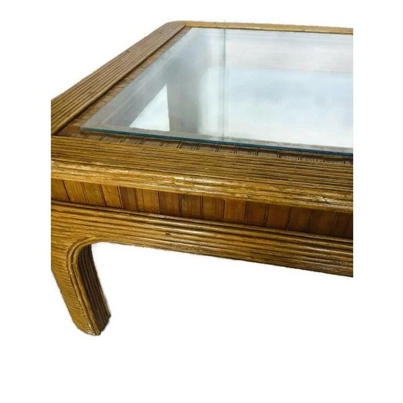 Vintage Boho Chic Bamboo Coffee Table With Images Bamboo Coffee Table Coffee Table Coffee Table Vintage