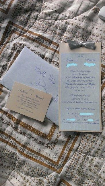 Partecipazioni Matrimonio Homemade.Le Mie Partecipazioni Homemade Organizzazione Matrimonio