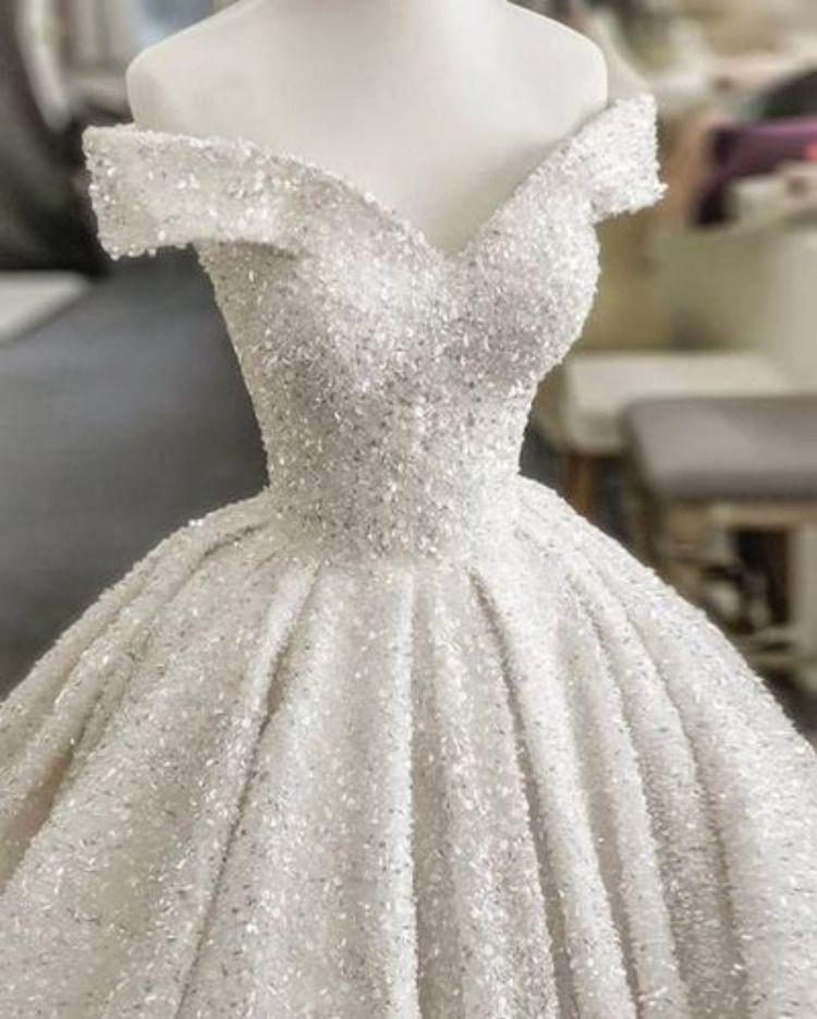Sparkly Beaded Wedding Dresses Custom Made Wedding Gown T1828 In 2020 Wedding Dresses Ball Dresses Ball Gown Wedding Dress