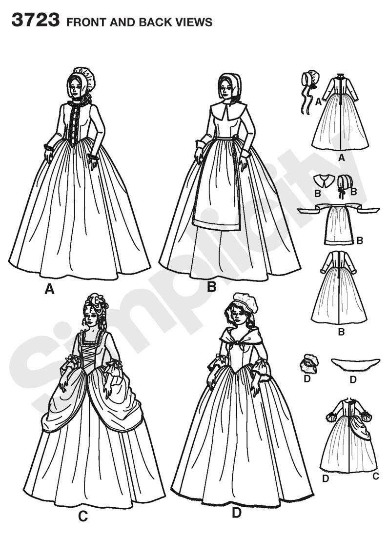 Simplicity Pattern: S3723 Misses Pioneer Costumes | by Andrea Schewe ...