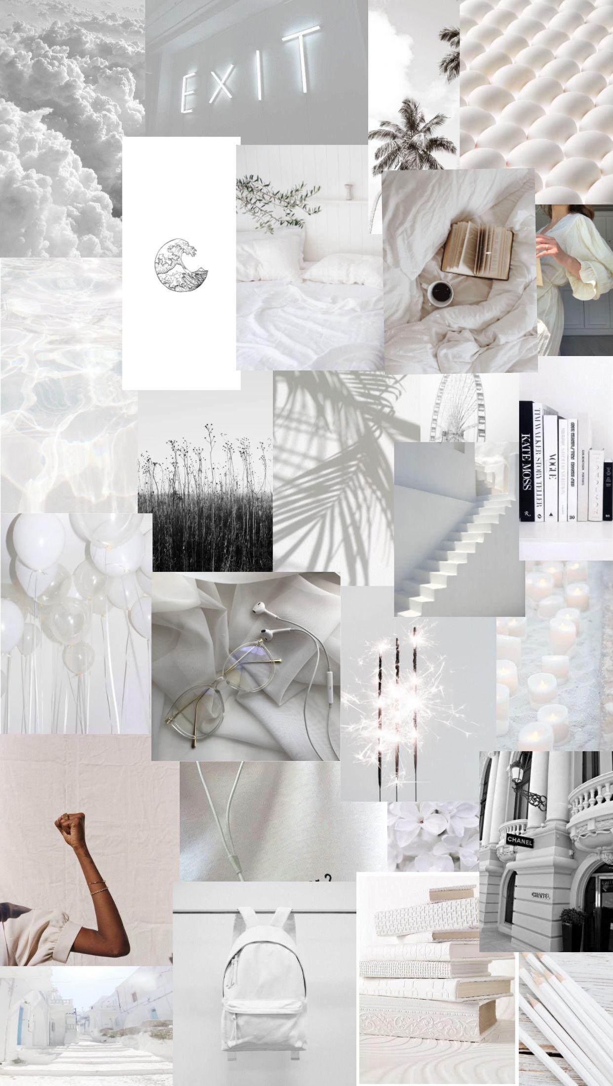 White Collage Bad Girl Wallpaper Aesthetic Iphone Wallpaper White Wallpaper For Iphone