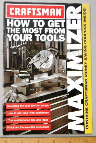 Vintage-Craftsman-tool-parts-1998-1999-catalog-brochure-Print-AD-power-drill-saw