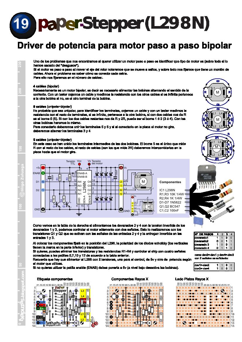 medium resolution of txapuzas electr nicas paperstepper l298n driver de potencia para motor paso a paso bipolar