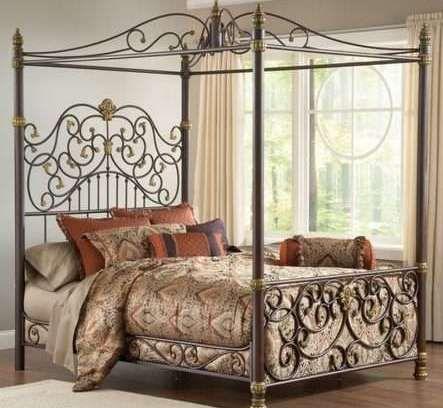 Iron Canopy Bed Beds Queen Frame Modern