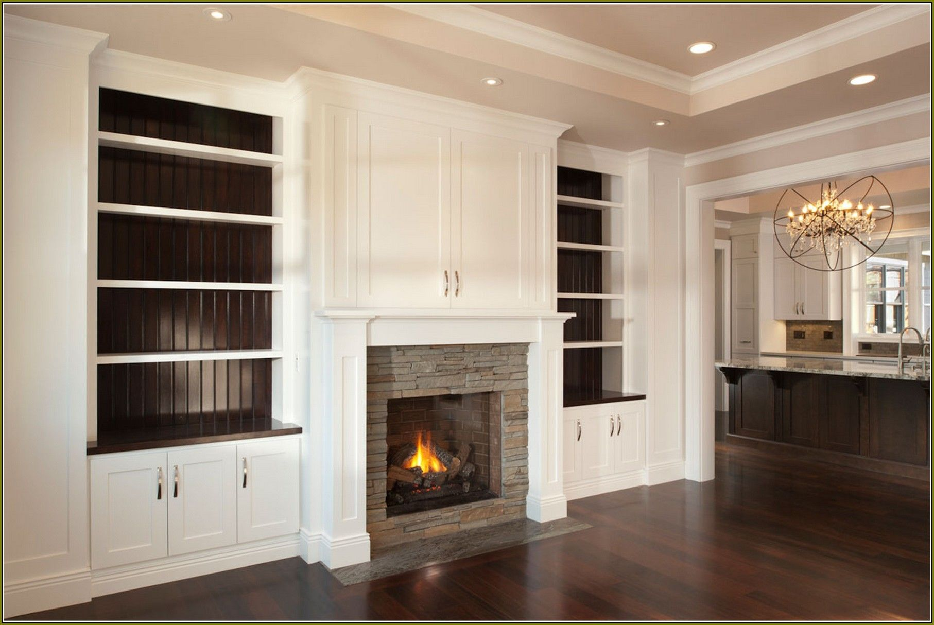 Accessories. DIY Built In Bookshelves Around Fireplace