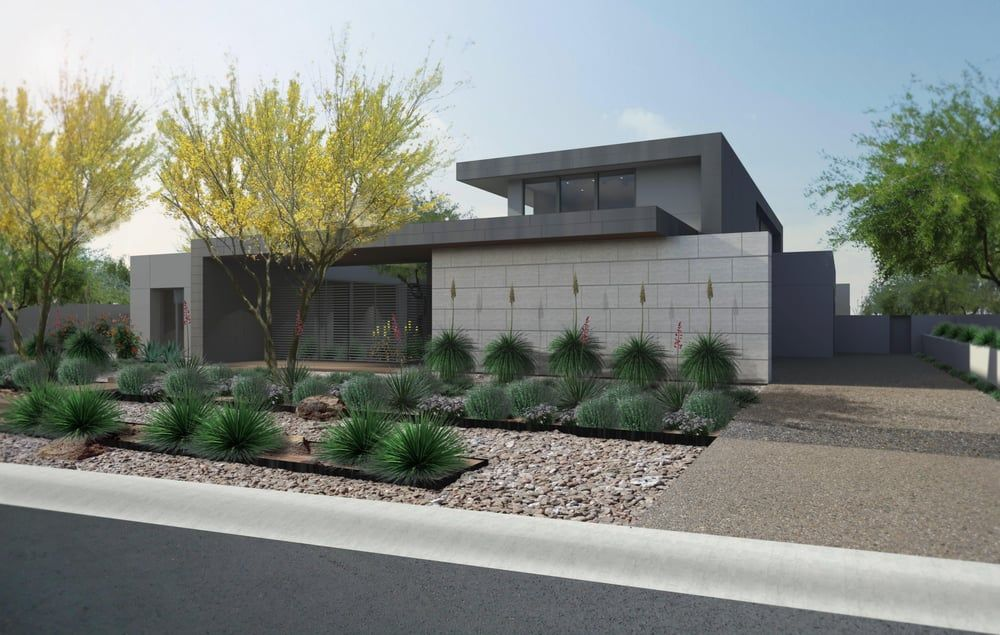 Landscaping contemporary architecture contemporary Modern desert landscaping ideas