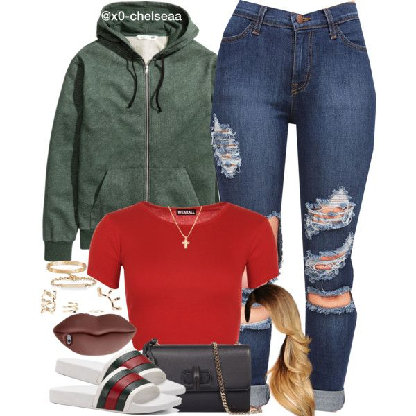 A fashion look from April 2016 featuring WearAll tops, H&M and Gucci shoulder bags. Browse and shop related looks.