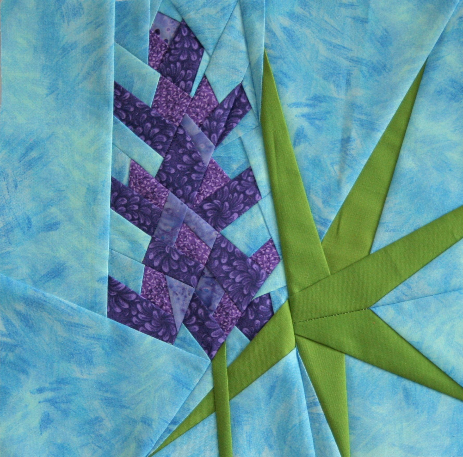 Paper pieced flower yelomdiffusion friday finish lupine a foundation paper piecing pattern night mightylinksfo
