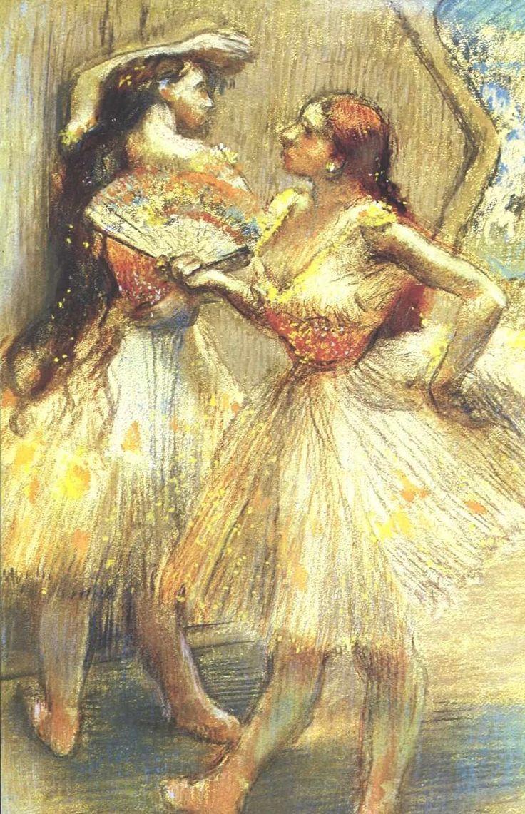 Two Dancers by Edgar Degas (1834-1917)