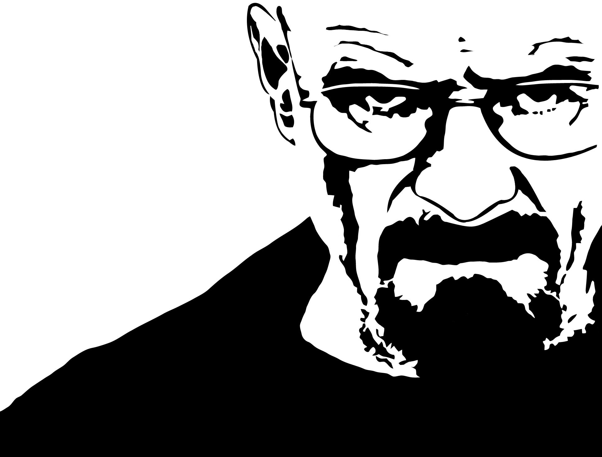 R Heisenberg From Breaking Bad R Stenciltemplates Breaking Bad Art Bad Drawings Silhouette Art