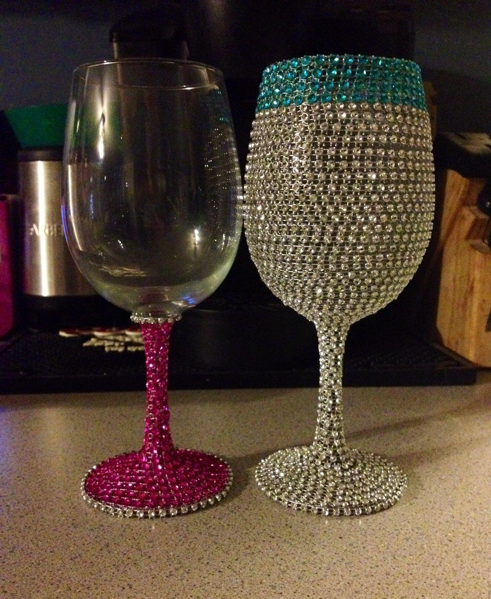 Bling Wine Glasses Diy Wine Glass Diy Wine Glasses Decorated Wine Glasses