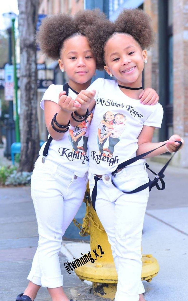Black twins · follow kiwicouto for more pretty girl pins ❣ cute mixed kids mixed boy