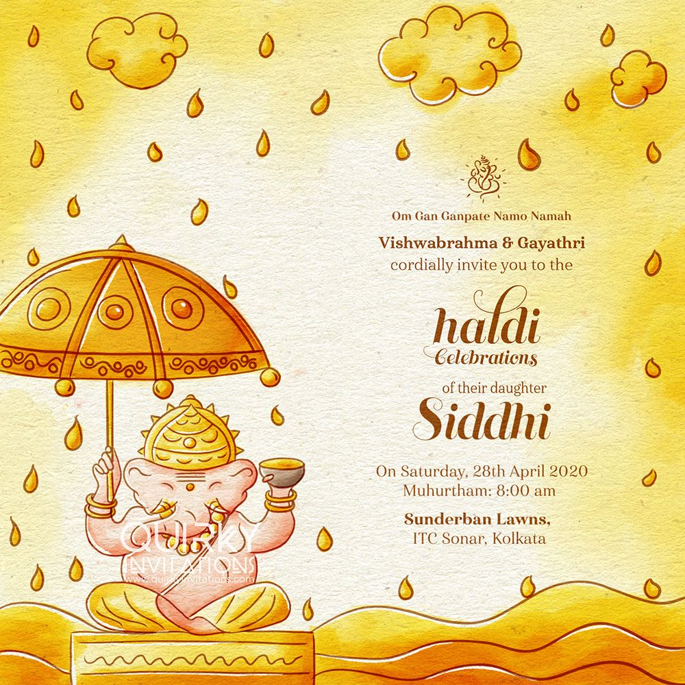 Quirky Indian Wedding Invitation Suite Inspired By Ganesha