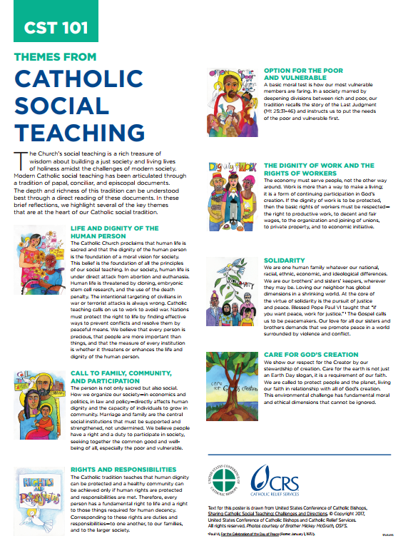 Catholic Social Teaching Resources From Crs Catholic Social Teaching Catholic Relief Services Catholic Teaching