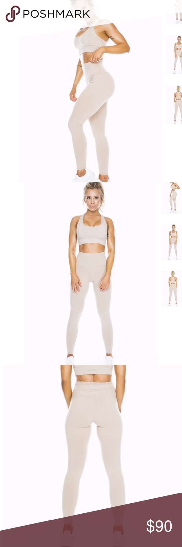 ed8df2277f0f9 Reserved for trade  saski leggings Gymshark shorts. Saski collection nude  high waist leggings ...