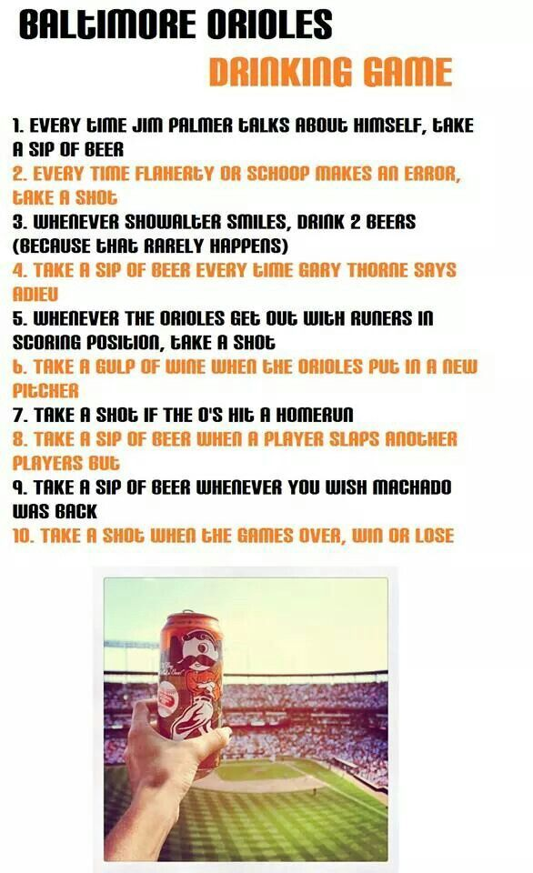 O's drinking game