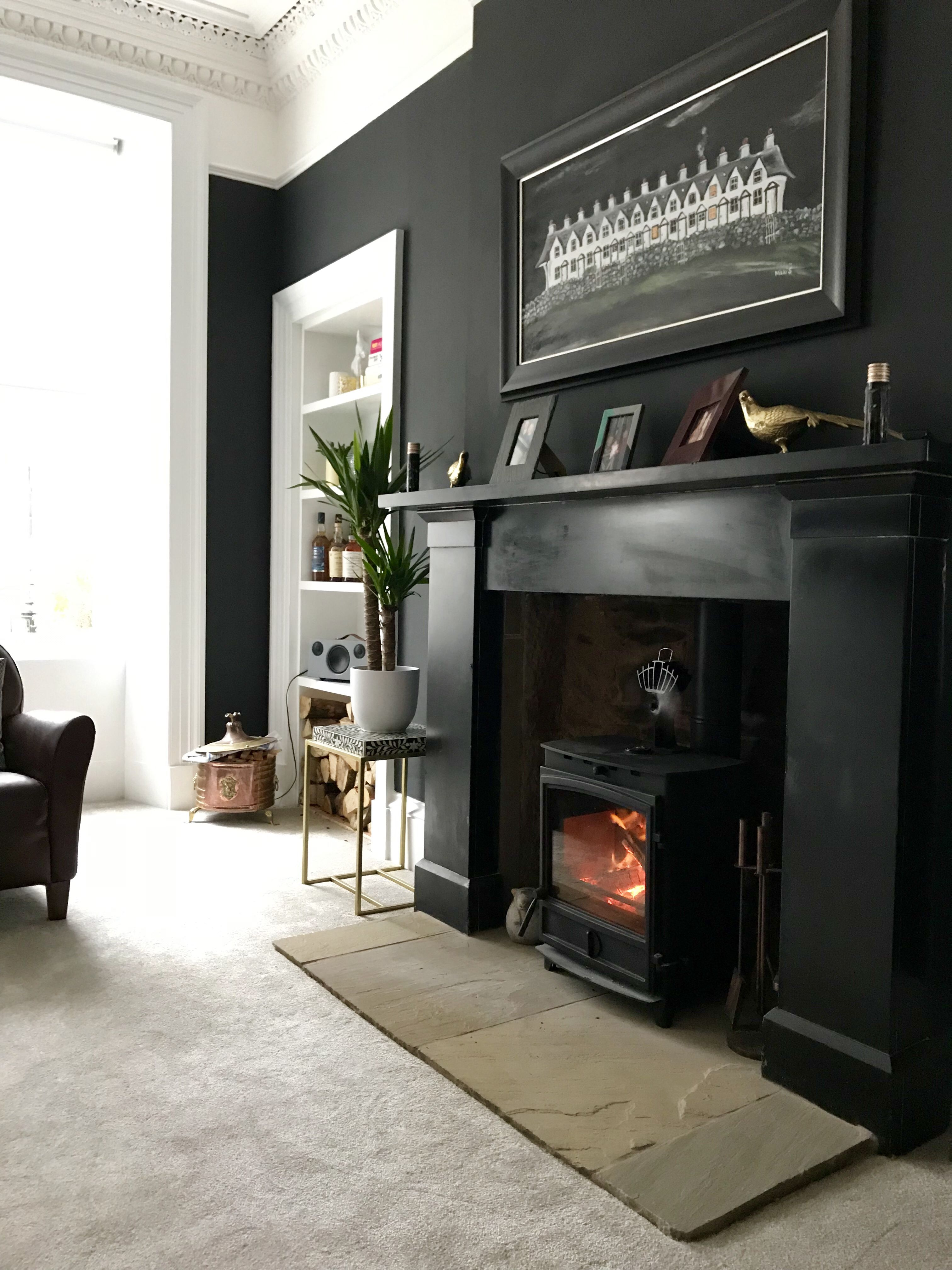Home Zen La Clayette farrow and ball off black (with images) | luxury bedroom