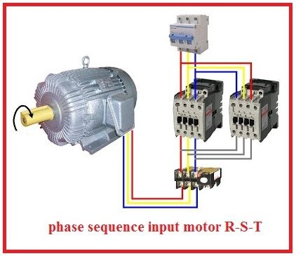 Forward Reverse Three Phase Motor Wiring Diagram Non