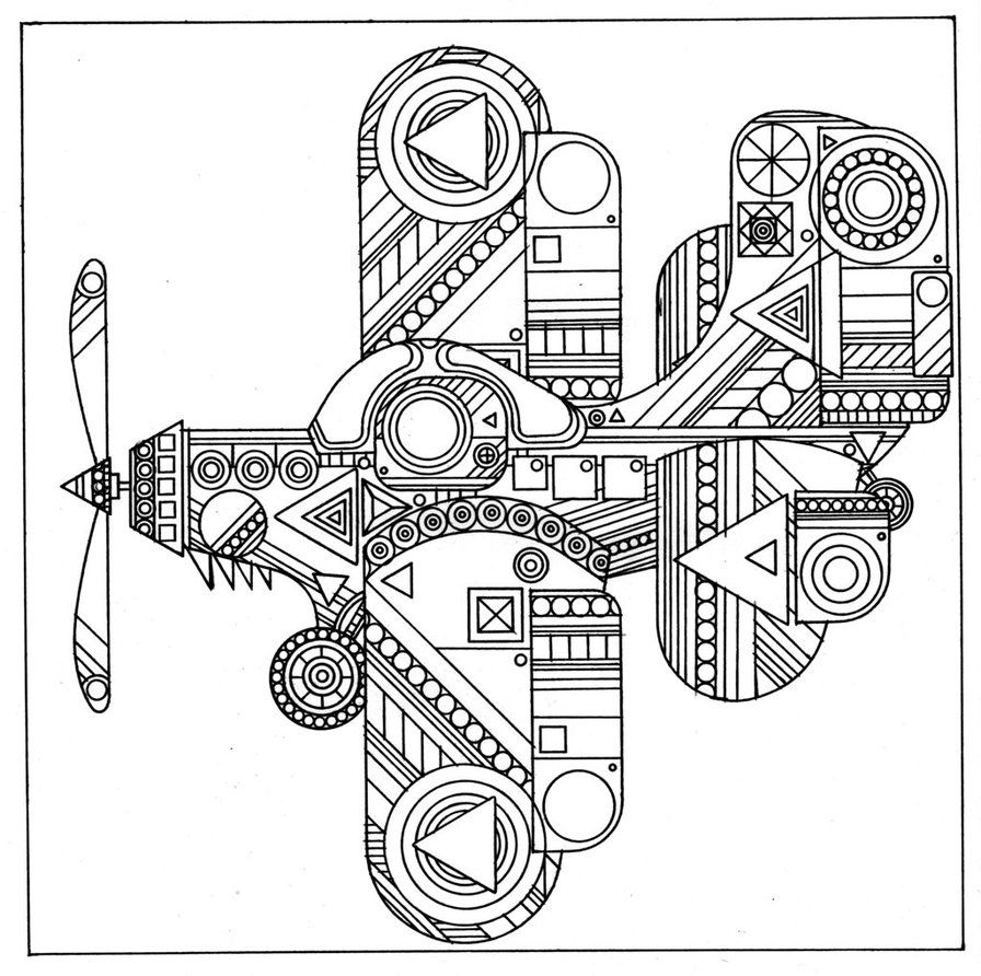 Coloring pictures for adults - Airplane Coloring Pages For Adults Airplane Coloring Pages For Adults