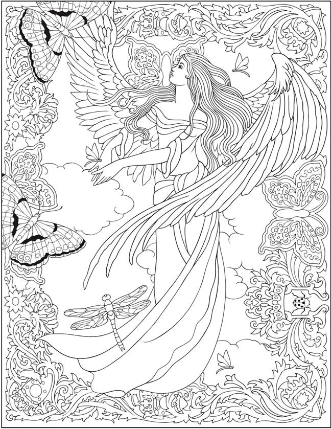 coloring pages of mystical angels - photo#26