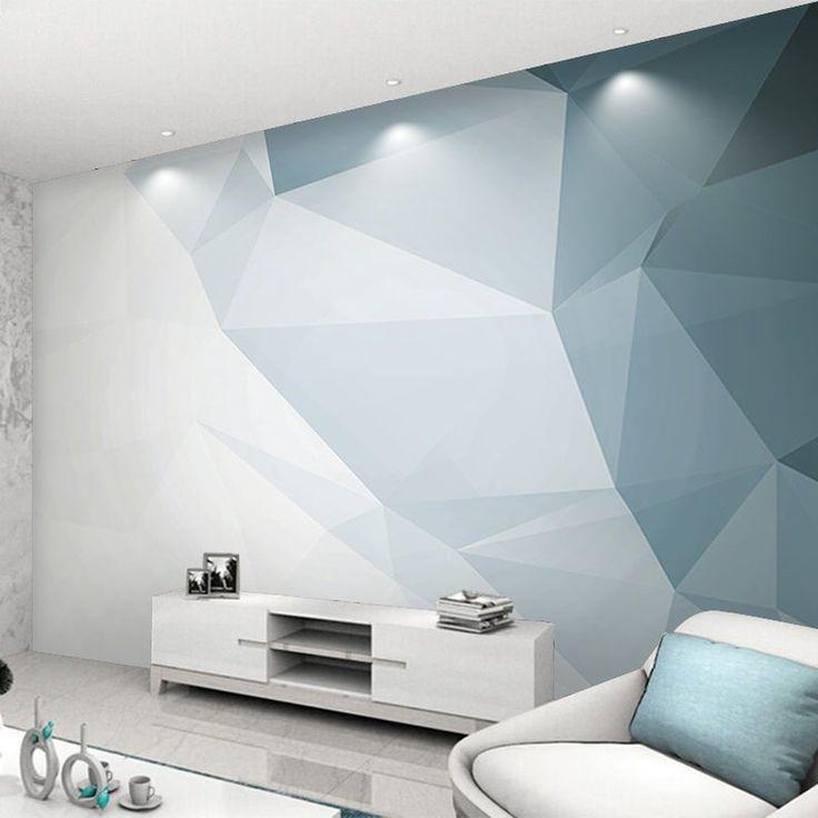 Modern Geometric Stereoscopic Wallpaper Wall Mural Imaginary Etsy Wall Murals Bedroom Wall Wall Wallpaper