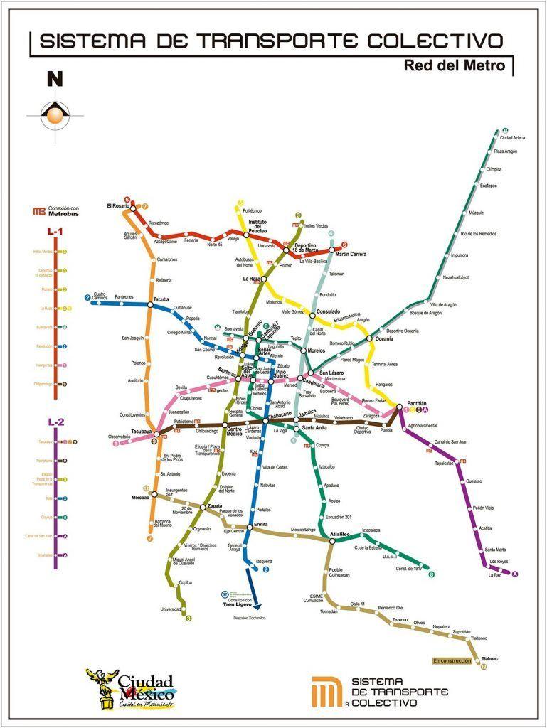 Mapa Del Metro De La Cdmx Lineas Estaciones Y Horarios Mapa