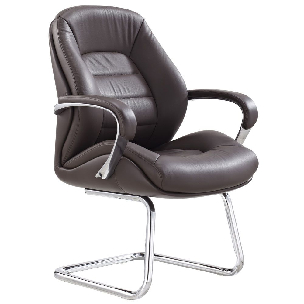 Gates Leather Guest Chair Chair Brown Leather Chairs Side Chairs