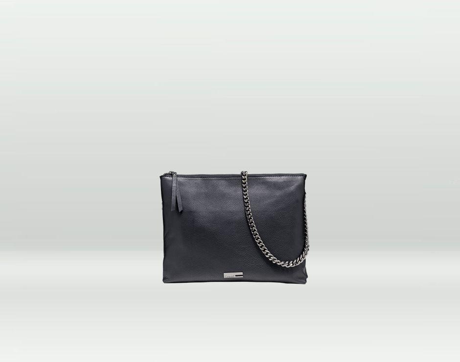Tracolla in pelle con catena - collezione AI 2014 2015 #Caleidos #bag #chains #leather