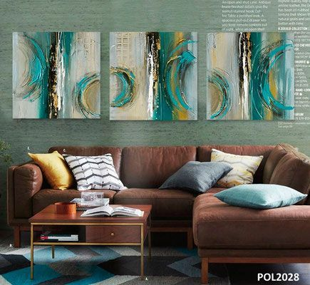 There are a lot of brilliant ideas which could enhance beauty of your living room one of them is use canvas wall art to decor your wall
