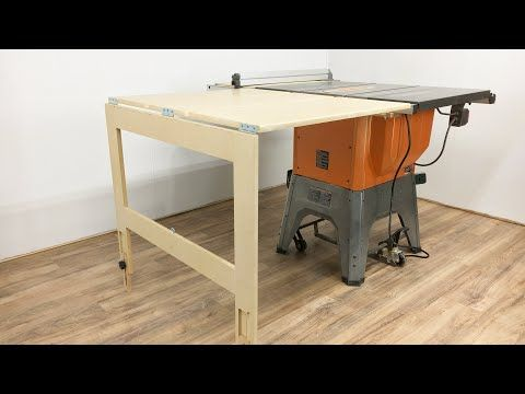 Ridgid R4512 Table Saw Compact Folding Outfeed You