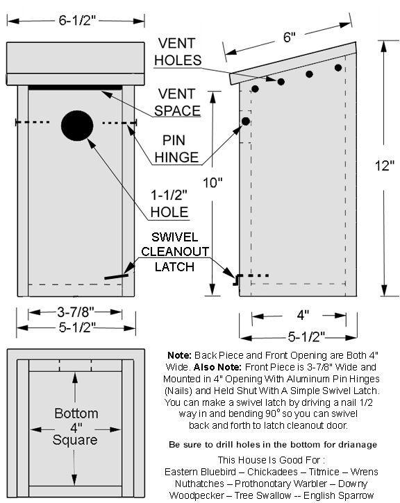 Image result for bluebird bird house plans | Gardening | Pinterest ...