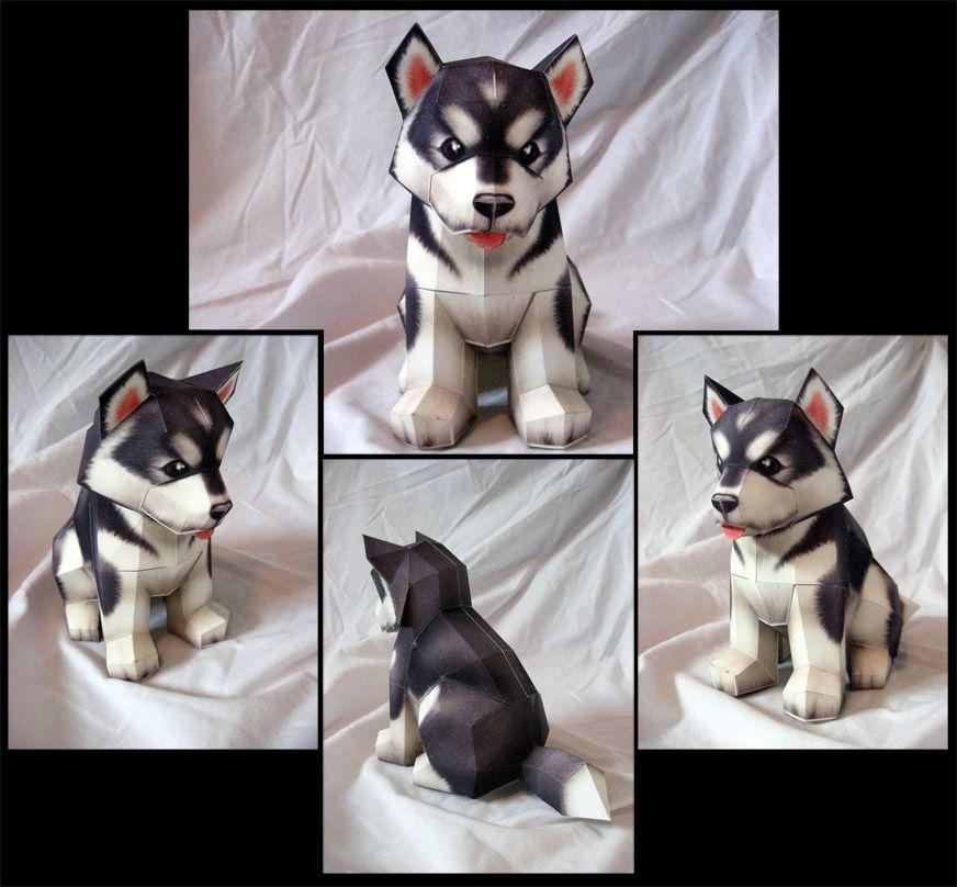 Alaskan Malamute By Makenxxx Dog Crafts Paper Crafts 3d Paper