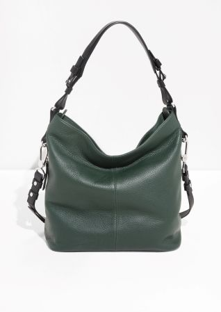 Other Stories Grain Leather Hobo