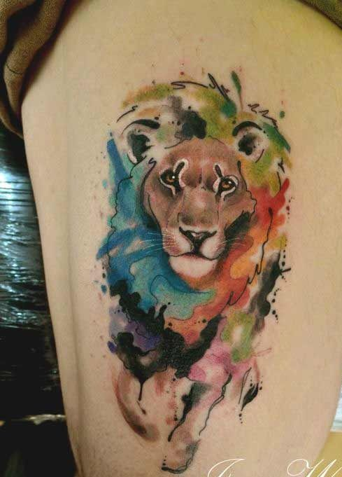45 Best Leo Tattoos Designs Ideas For Men And Women With Meanings Watercolor Lion Tattoo Mens Lion Tattoo Lion Tattoo