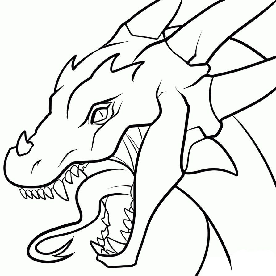 Uncategorized Simple Drawing Of A Dragon drawings of dragons heads clipart best dogs plus for canvas best