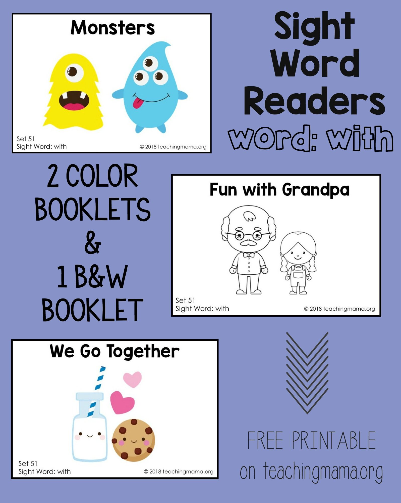 Sight Word Readers For The Word With
