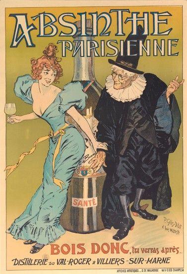 Absinthe Parisienne - Bois donc, tu verras après...  1896 - illustration de Gélis-Didot -