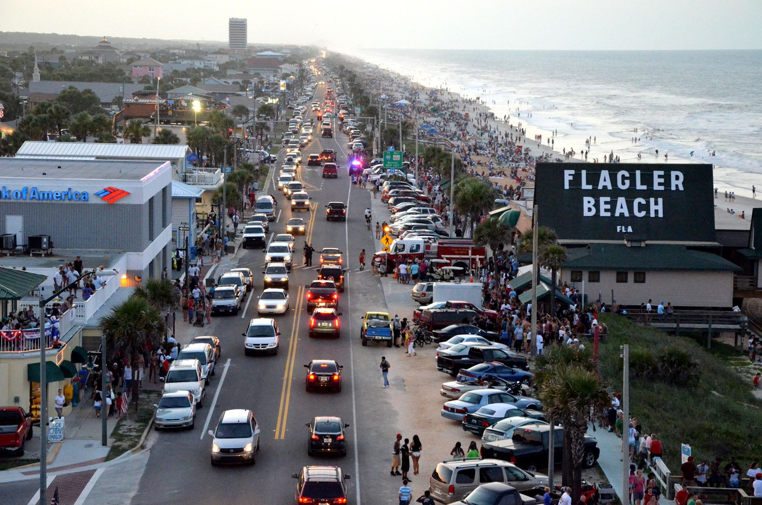 Oh My Actually Flagler Beach Only Gets This Crowded About 4 Times A Year 4th Of July As Pictured Bike Week In The Early Spring Biketoberfest You