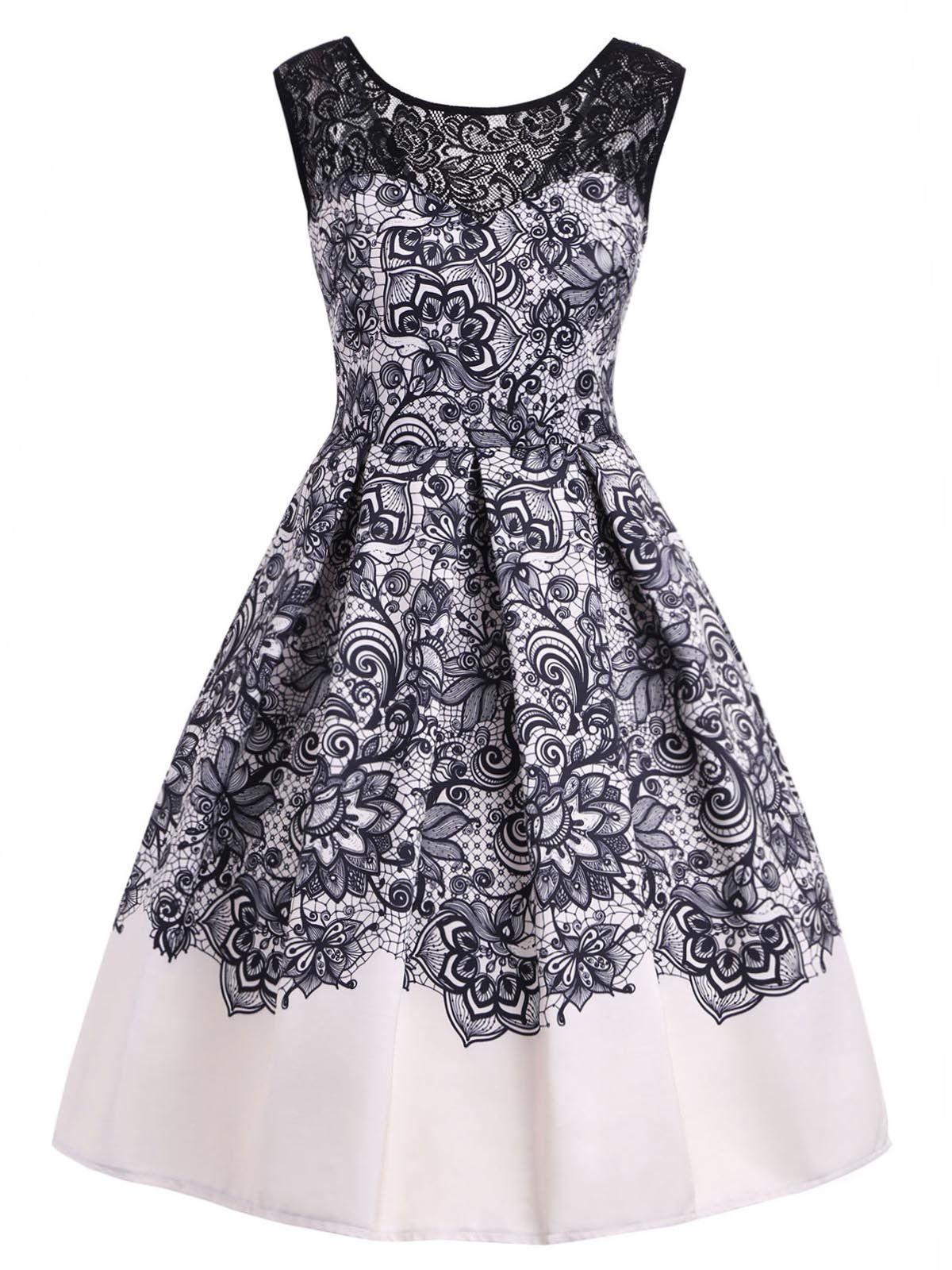 Blue 1950s Floral Sweetheart Swing Dress Dresses Vintage Dresses Cheap Frocks For Girls