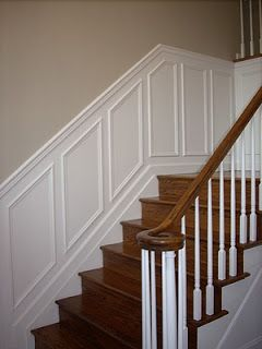 On The List Of Home Projects   Wainscoting Up The Foyer Stairs