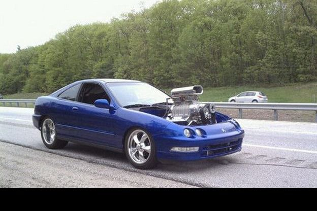 Acura Integra with a big block V8 engine | Cool Car Stuff ...