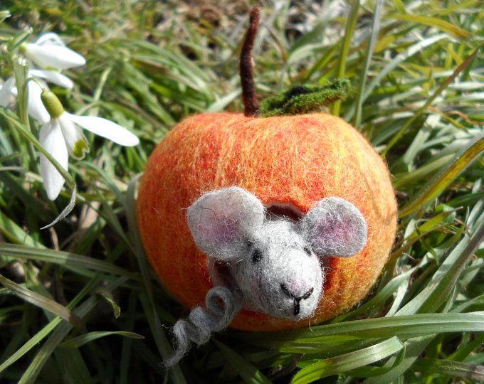 Apple Mouse Felt Apple Maus Apple