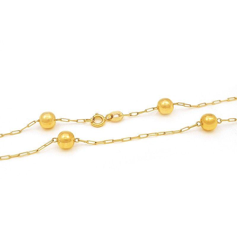 A Corrente de Ouro Bolinhas é uma joia muito delicada e muito luxuosa.  Ideal para 70eb0682d3