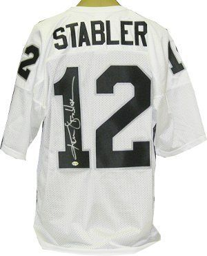 big sale aeb1b f3ec5 Ken Stabler signed Oakland Raiders White Russell Athletic ...